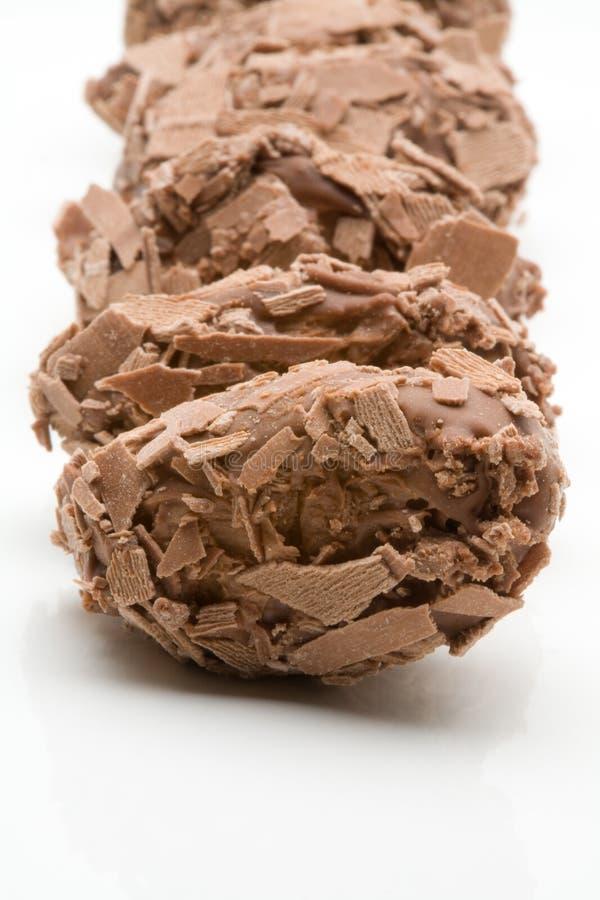 Belgian chocolate truffles royalty free stock photography
