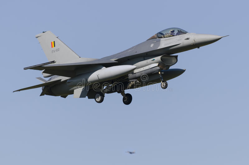 Belgian F-16 at Leeuwarden stock images
