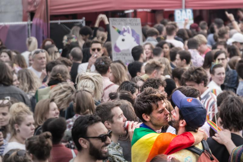 Belgian Pride. Last Belgian Pride held in Brussels stock photography