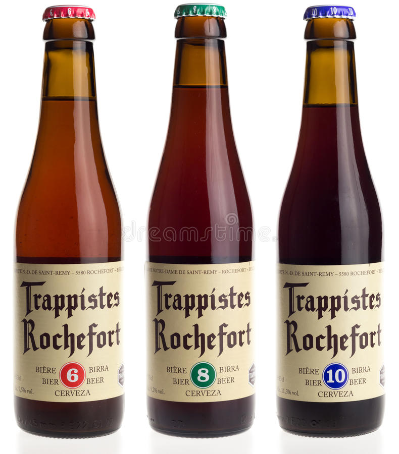 Belgian Trappist Beer Rochefort 6, 8, And 10 Isolated On ...