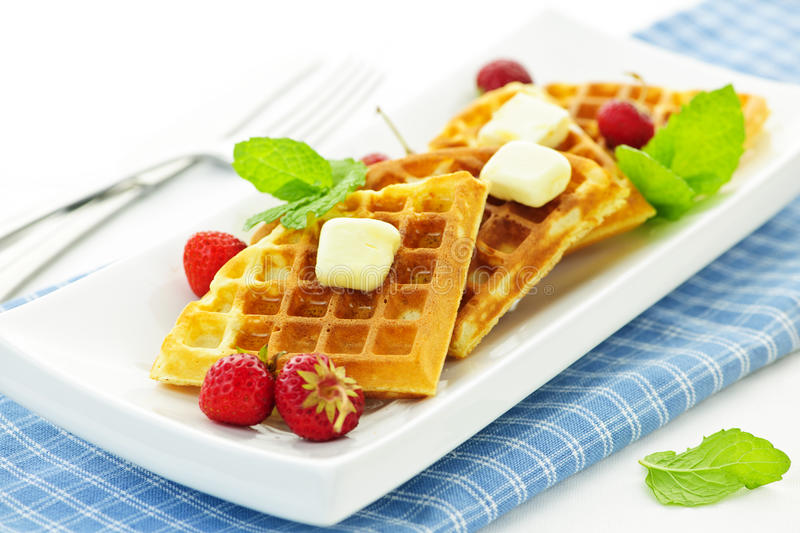Download Belgian waffles stock photo. Image of berries, belgian - 21221784