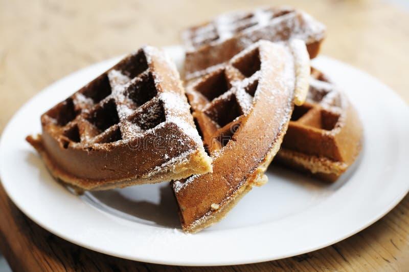 Download Belgian waffles stock photo. Image of food, circle, perfect - 24156244