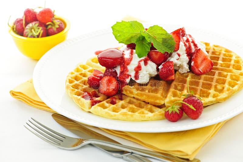 Download Belgian waffles stock image. Image of belgian, nutrition - 27881243