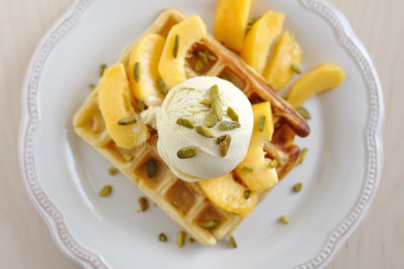 Belgian Waffles royalty free stock photo