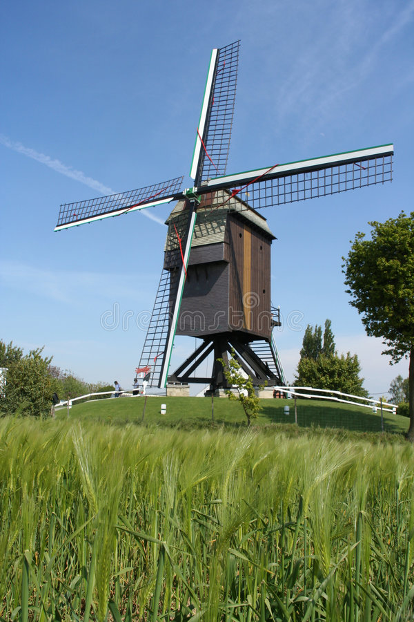Belgian Windmill Stock Images