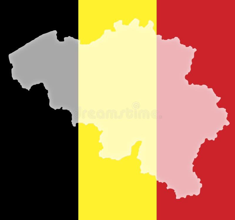 Belgien lizenzfreie abbildung