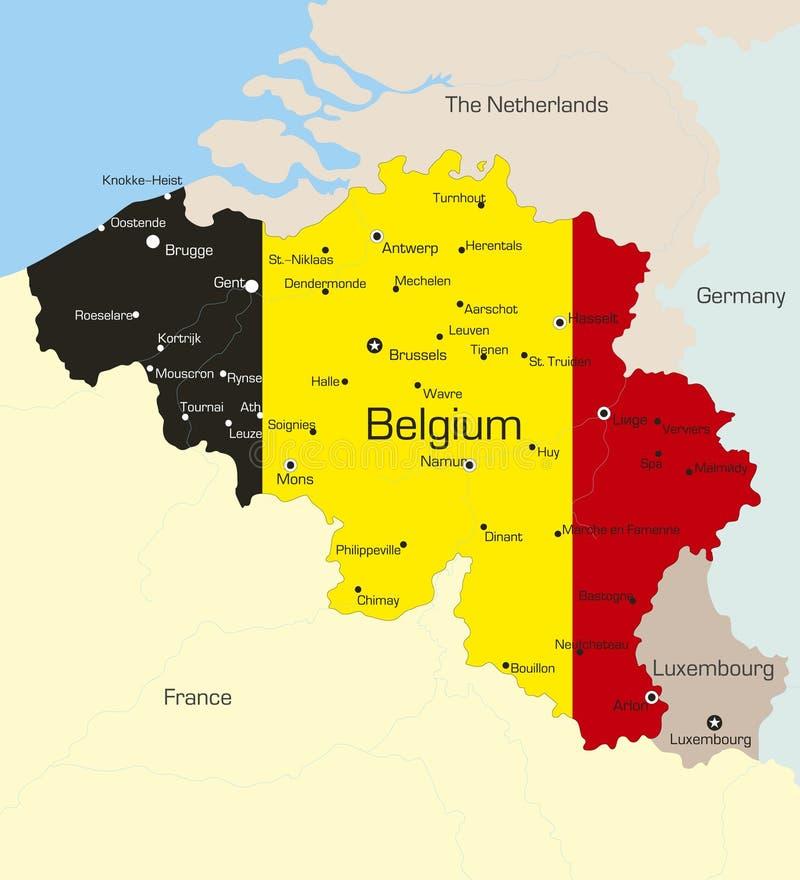 Belgien vektor abbildung