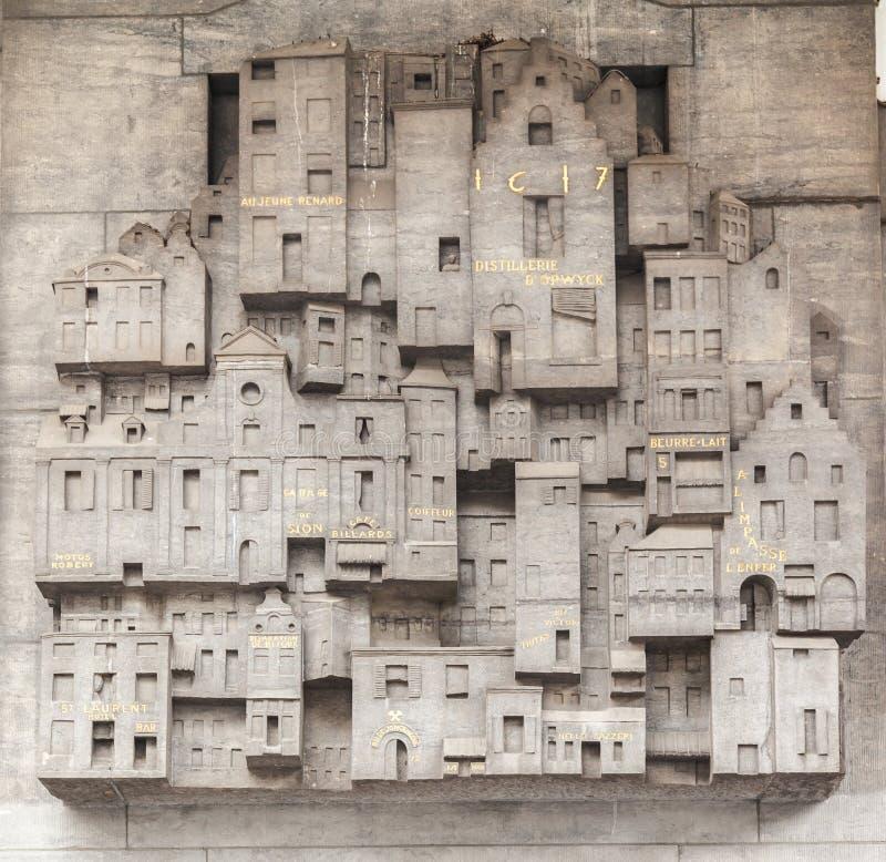 Belgien brussels central husstation arkivbilder