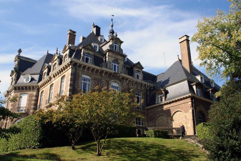 Belgien chateau namur arkivbilder