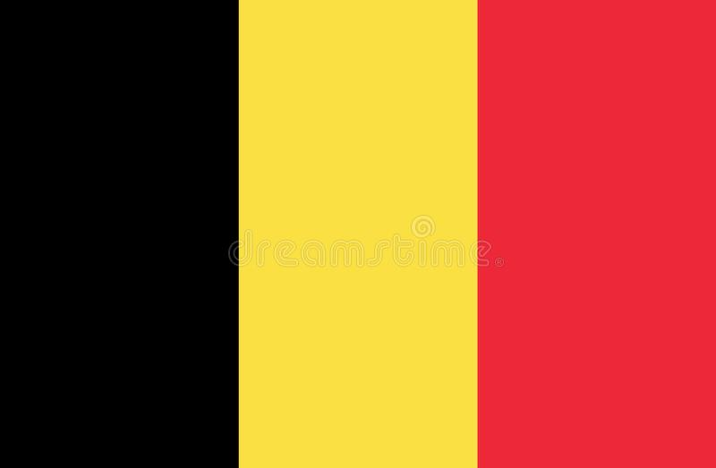 Belgien flagga royaltyfri illustrationer