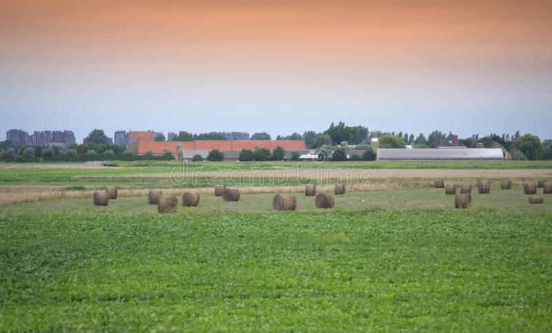 Belgien Flanders landskap arkivfoto