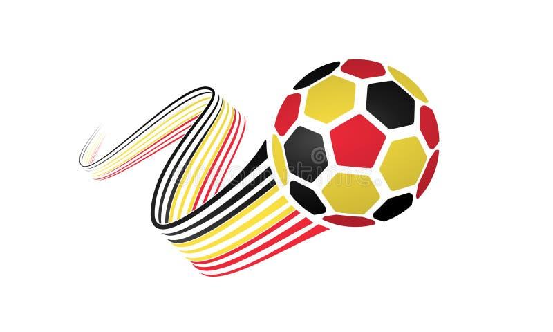 Belgien fotbolllag royaltyfri illustrationer