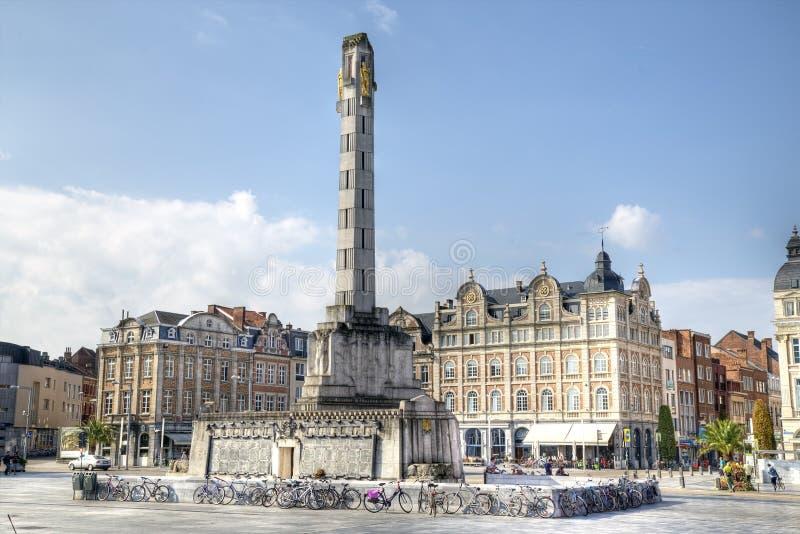 Belgien leuven arkivfoton