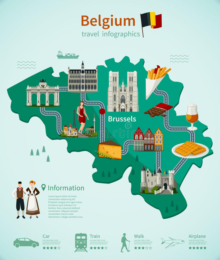 Belgien lopp Infographics vektor illustrationer
