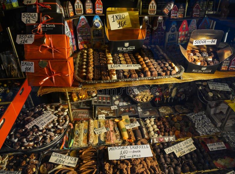 Belgien-Schokoladenspeicher lizenzfreie stockfotografie