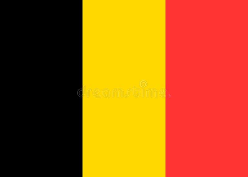 Belgien vektorflagga royaltyfri illustrationer