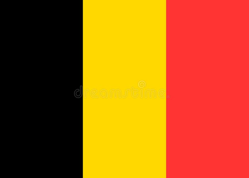 Belgien-Vektorflagge lizenzfreie abbildung