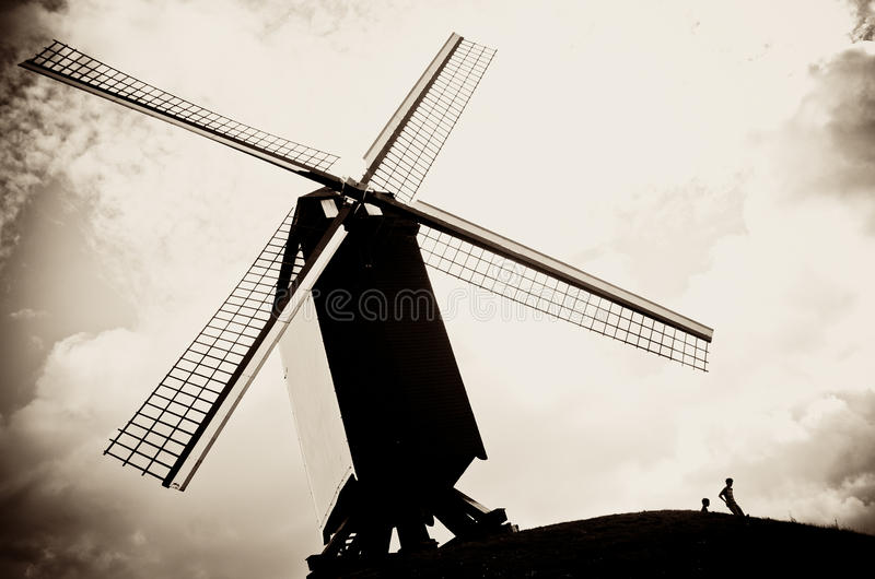 Belgien-Windmühle stockfotografie