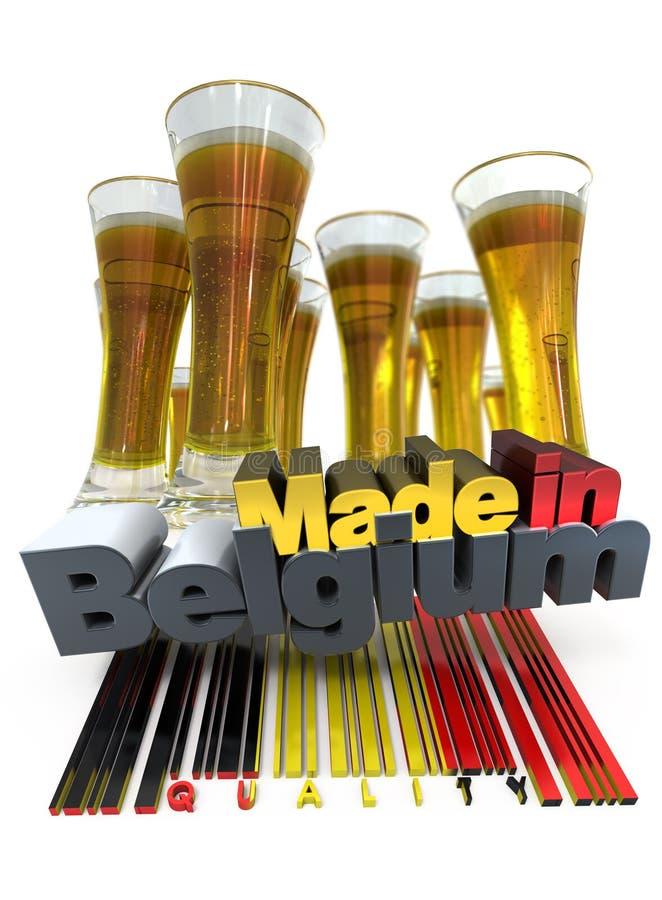 Belgisch bier stock illustratie
