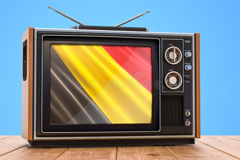 Belgisch 3D Televisieconcept, stock illustratie