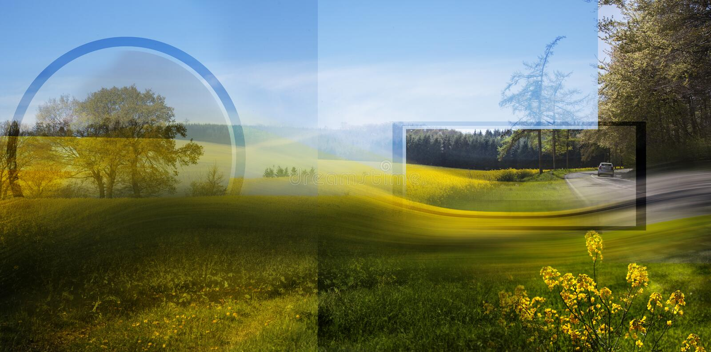 Belgisch de lentelandschap royalty-vrije illustratie