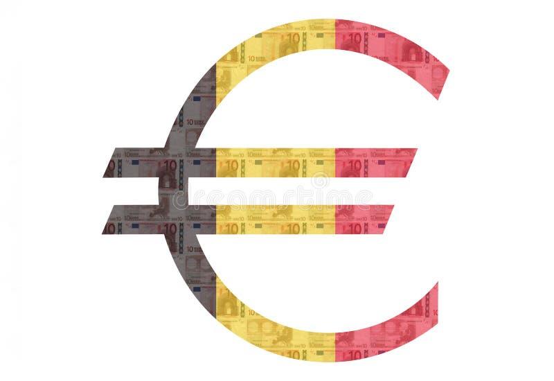 Belgisch Euro teken stock illustratie