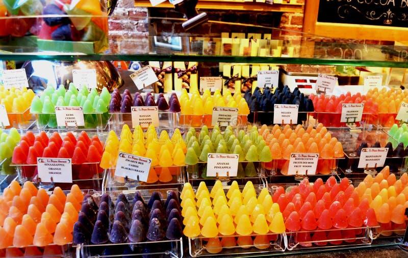 Belgisch fruitsuikergoed royalty-vrije stock afbeelding