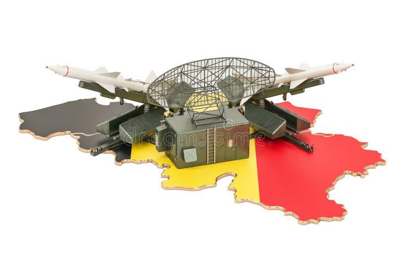 Belgisch het systeemconcept van de raketdefensie, het 3D teruggeven royalty-vrije illustratie