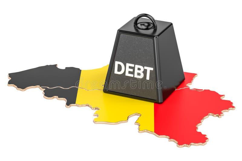 Belgisch nationale schuld of begrotingstekort, financiële crisis concep royalty-vrije illustratie