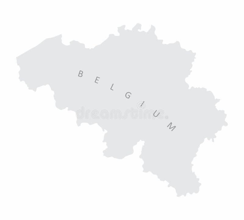 Belgisch silhouetekaart stock illustratie