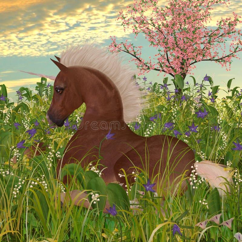 Belgisch Unicorn Foal stock illustratie