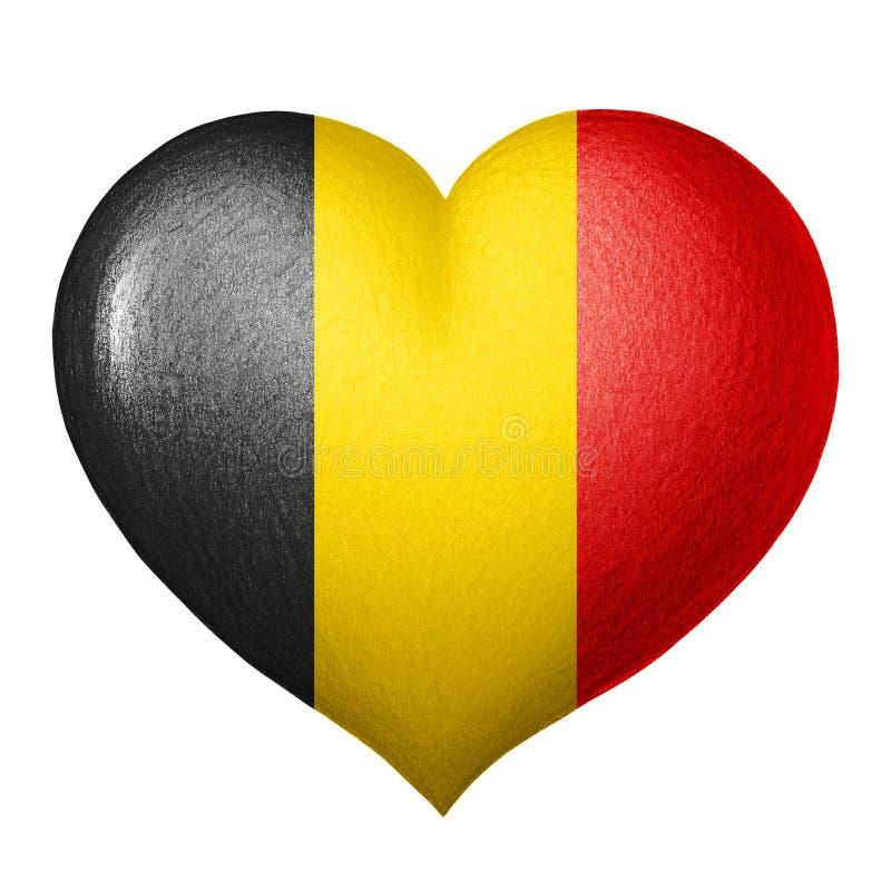 Belgisch vlaghart dat op witte achtergrond wordt geïsoleerd De tekening van het potlood royalty-vrije illustratie