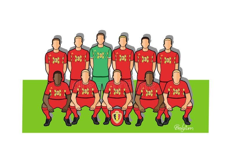 Belgisch voetbalteam 2018 royalty-vrije illustratie