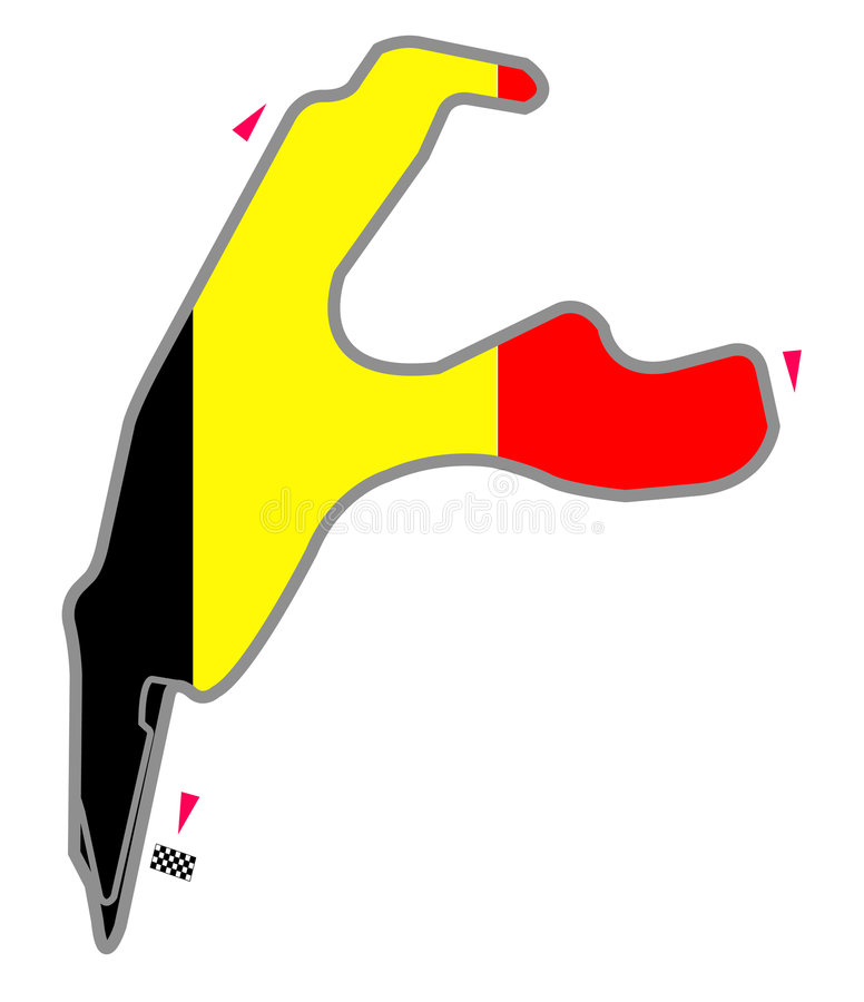Belgische kring vector illustratie