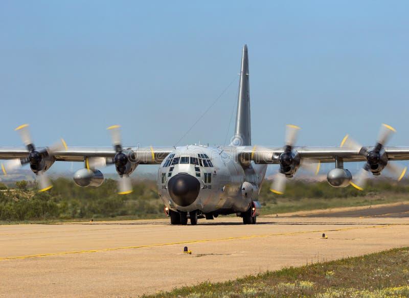 Belgische Luchtmacht c-130 het vrachtvliegtuig van Hercules royalty-vrije stock fotografie