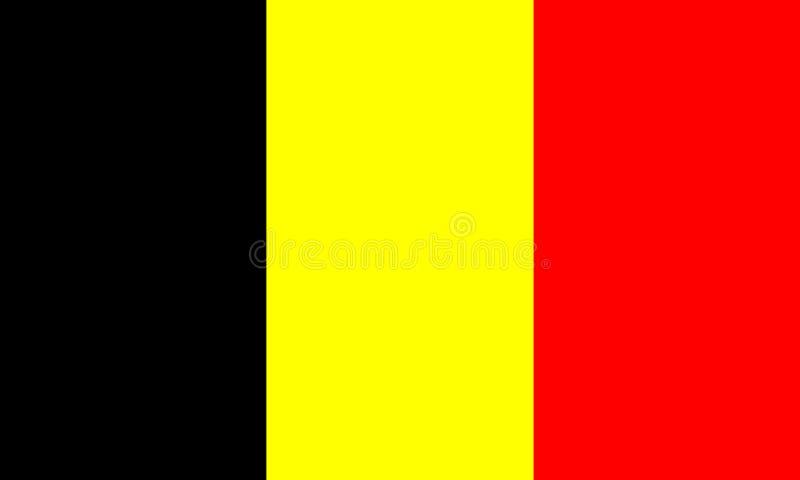Belgische Markierungsfahne lizenzfreie abbildung
