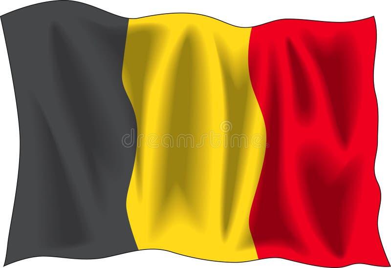 Belgische Markierungsfahne stock abbildung
