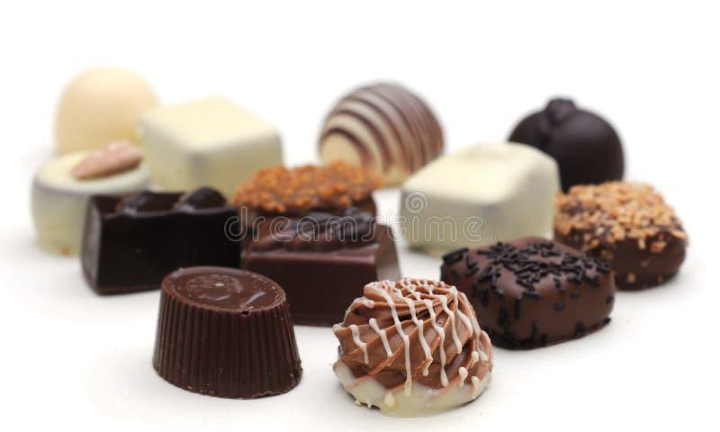 Belgische Schokoladen stockfotos