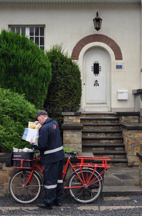 Belgischer Briefträger stockfotografie