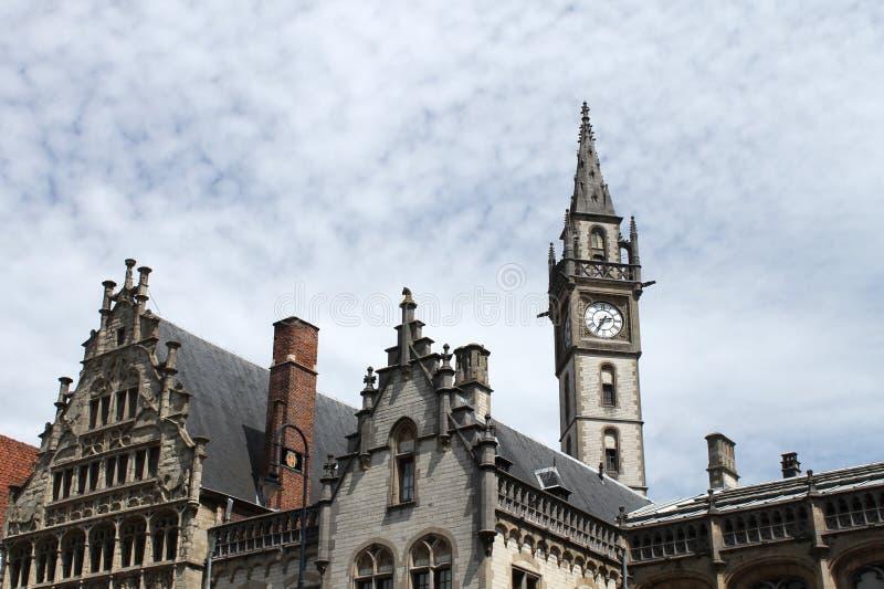 Belgisches Stadtzentrum stockfoto