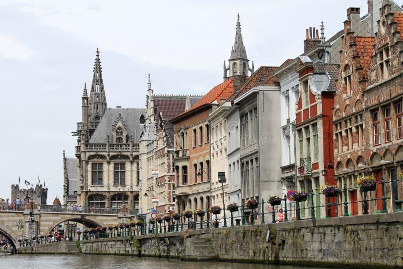 Belgisches Stadtzentrum stockbild