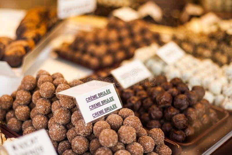 Belgisk choklad royaltyfria bilder