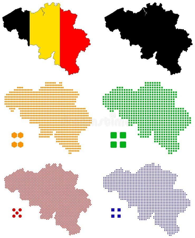 Download Belgium stock vector. Illustration of blue, pixelate - 11105746