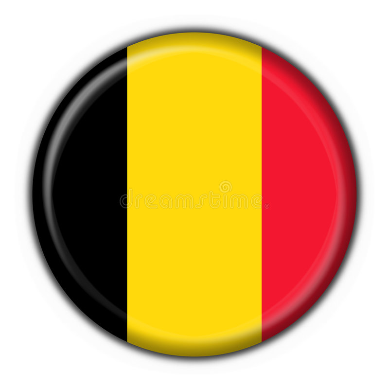 Belgium button flag round shape