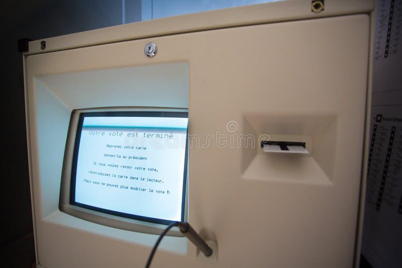Belgium Election 2012 Machine stock image