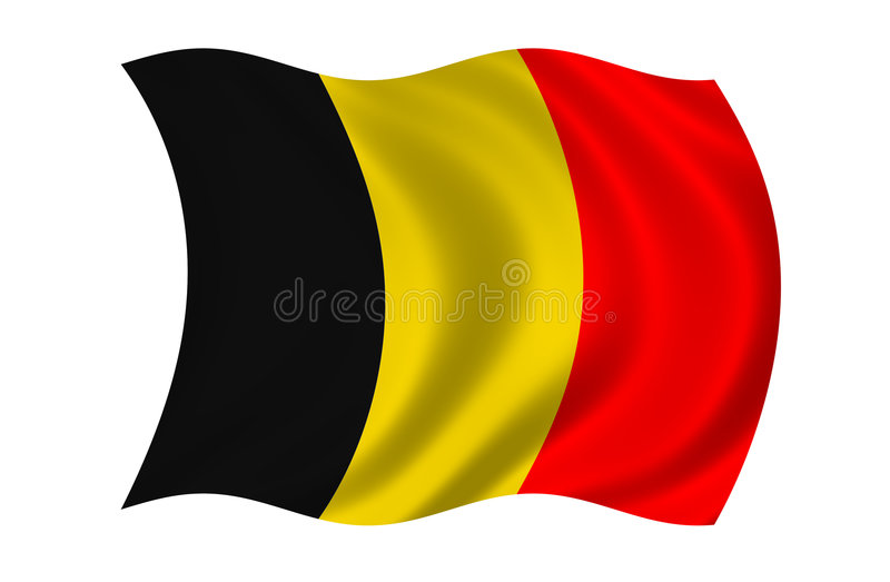 Belgium Flag royalty free illustration