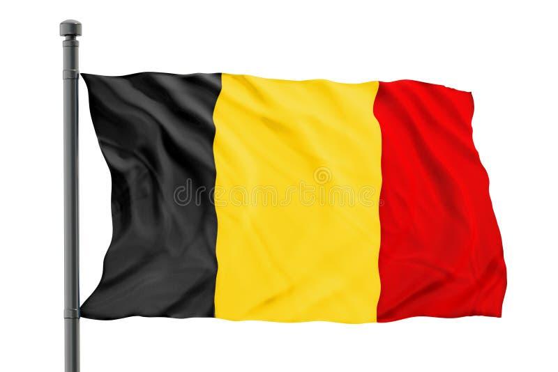 Belgium flag. Isolated on white background royalty free stock photography