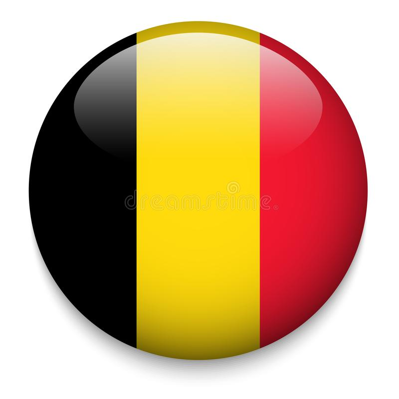BELGIUM flag button vector illustration