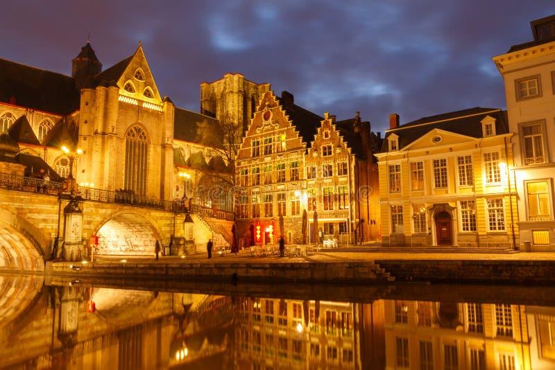 belgium gent fotografia stock