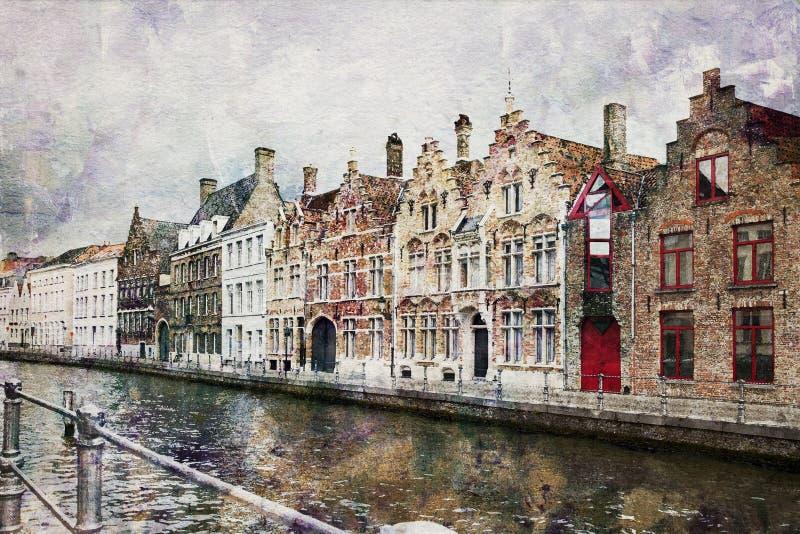 belgium kanał Bruges zdjęcie stock